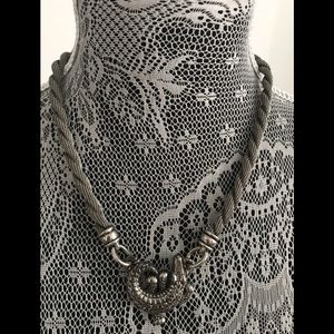 Beautiful necklace with alligator pendant